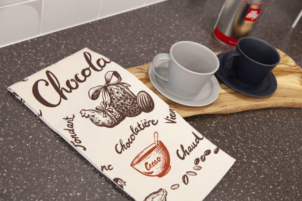 チョコレートとコーヒーをお楽しみください