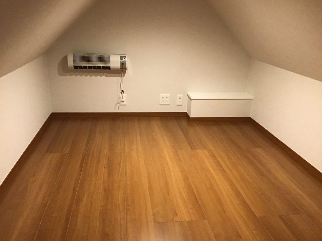 小屋裏収納。ご趣味のスペースとして活用可能♪