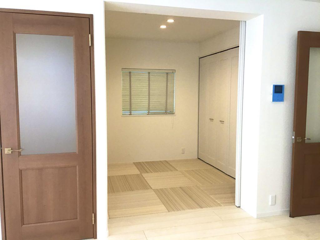 来客時に対応できる和室です。(2021年5月撮影)